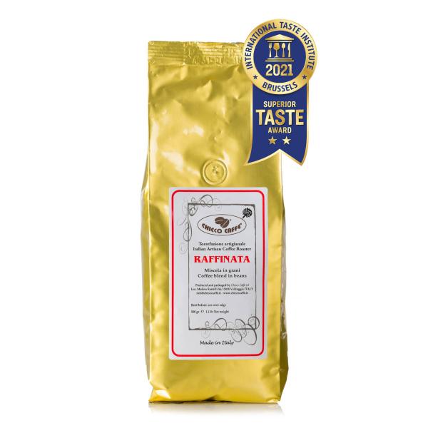 Roasted Coffee in beans 500gr\bag RAFFINATA
