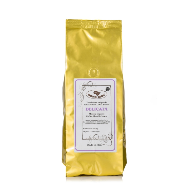 Roasted Coffee in beans 500gr\bag DELICATA