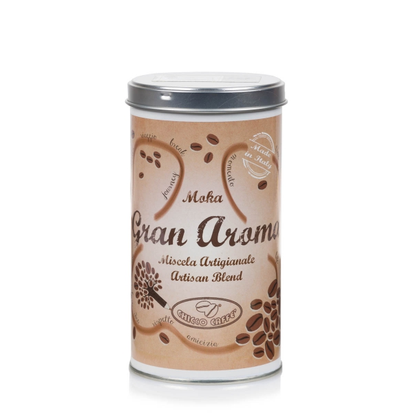 Roasted Ground Coffee in cans GRANAROMA for Moka 250 gr/can